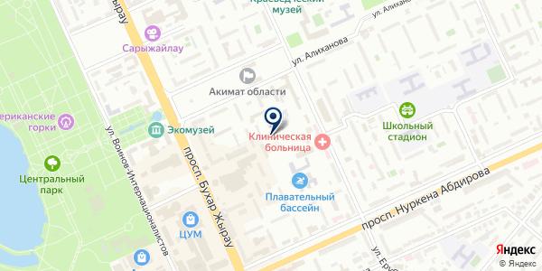 Стоматолог Люкс на карте Караганде