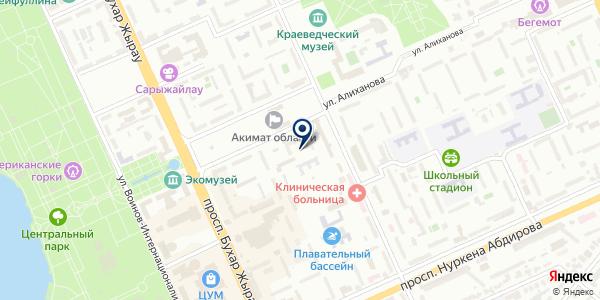 Финансаудит на карте Караганде