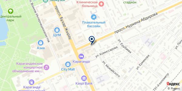 Адвокат Фицек Л.А. на карте Караганде