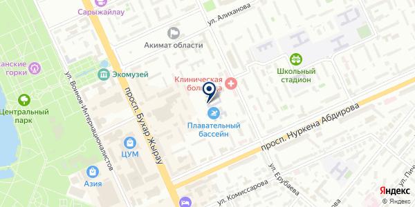 Центр подготовки олимпийского резерва, КГКУ на карте Караганде
