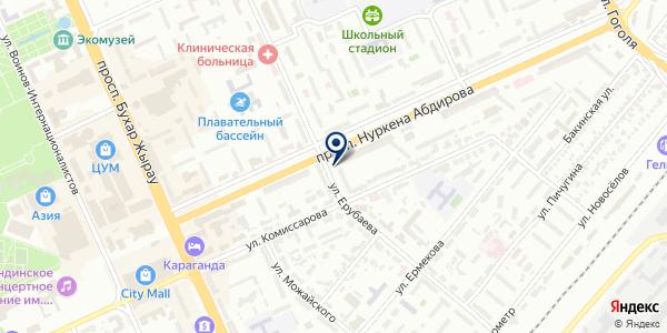 Мирана-Косметик на карте Караганде