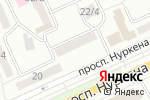 Схема проезда до компании Silver в Караганде