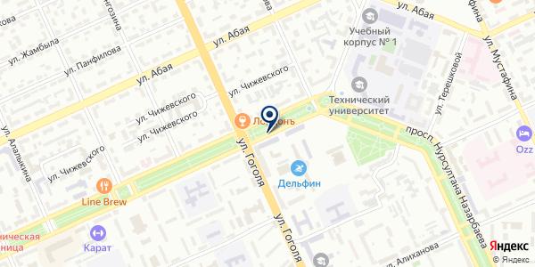 Журек на карте Караганде