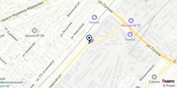 Производственно-торговая компания на карте Караганде