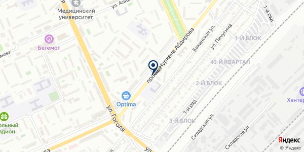 Салидджи на карте Караганде