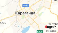 Гостиницы города Караганда на карте