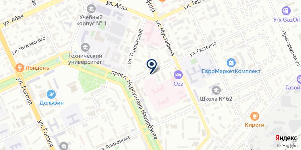 Sheber на карте Караганде
