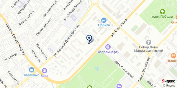 ЮрЛига, ТОО на карте Караганде