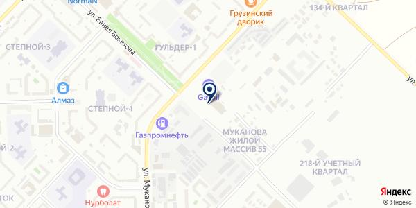 Завод ЖБК № 1, ТОО на карте Караганде