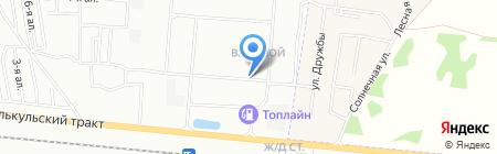 Входной на карте Омска