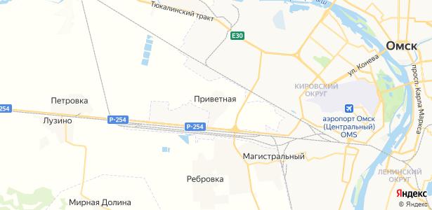 Приветная на карте