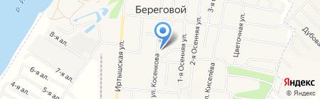 Береговой на карте Омска