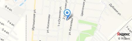 Детский сад №160 на карте Омска