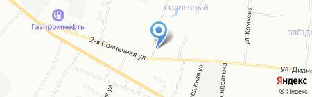 Садовка на карте Омска
