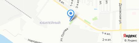 Юбилейный на карте Омска