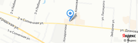 Банкомат Газпромбанк на карте Омска