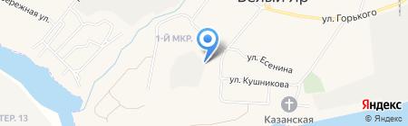 Белоярский на карте Барсово
