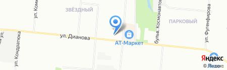 Юлия на карте Омска