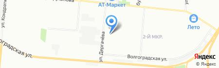 Средняя общеобразовательная школа №21 на карте Омска