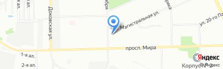 Энфилд на карте Омска