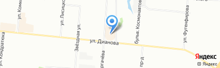Золотая унция на карте Омска