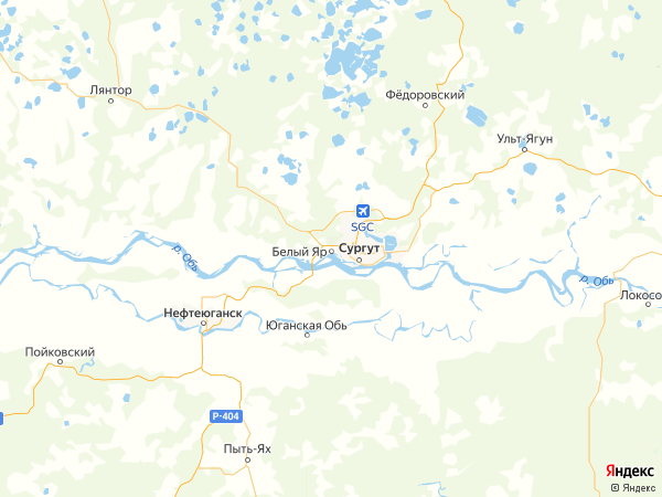 поселок городского типа Белый Яр на карте