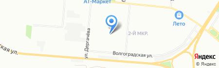 Овен-Омск на карте Омска