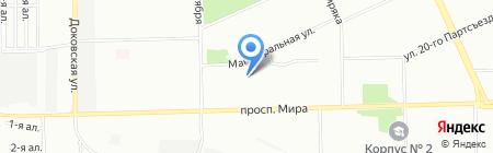Детский сад №168 на карте Омска
