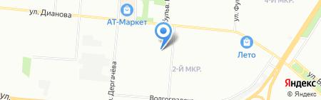 Туймаада на карте Омска