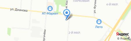Тропикана на карте Омска
