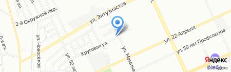 Кованый цветок на карте Омска