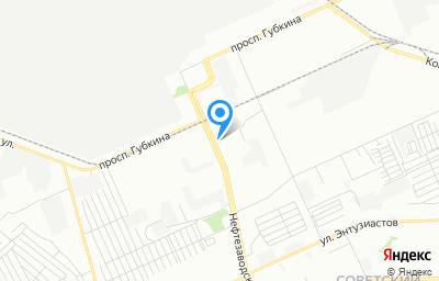 Местоположение на карте пункта техосмотра по адресу г Омск, ул Нефтезаводская, д 46
