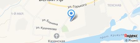 Белоярская средняя общеобразовательная школа №1 на карте Барсово