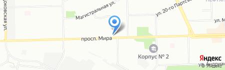 Волан на карте Омска