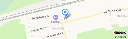 Урал-контейнер на карте Сургута