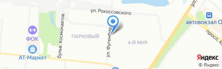 Фунтик на карте Омска