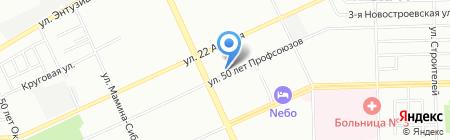 Элиталь на карте Омска