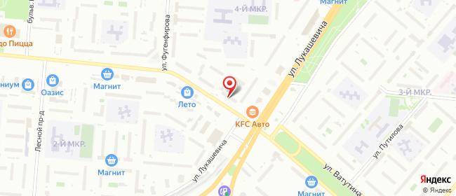 Карта расположения пункта доставки Омск Лукашевича в городе Омск