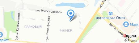 Детский сад №183 на карте Омска