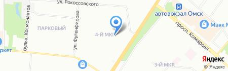Левобережный-4 на карте Омска