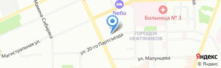 Нефтяник на карте Омска