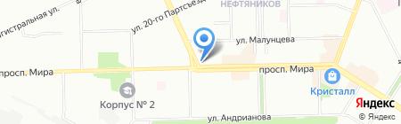 Джулия на карте Омска