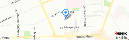 У Советского рынка на карте Омска