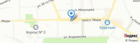 Карачи на карте Омска