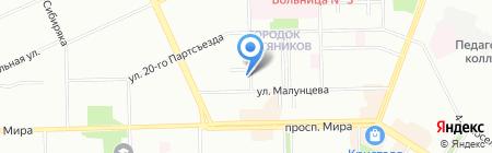 Курляндия на карте Омска