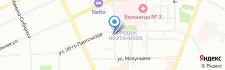 Вечерний Сочи на карте Омска