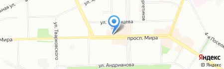 Банкомат Банк Интеза на карте Омска