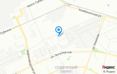 Местоположение на карте пункта техосмотра по адресу г Омск, ул Заводская, д 26