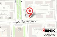 Схема проезда до компании Медиа Сити в Омске