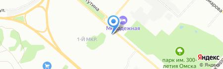 Бытовые услуги на карте Омска